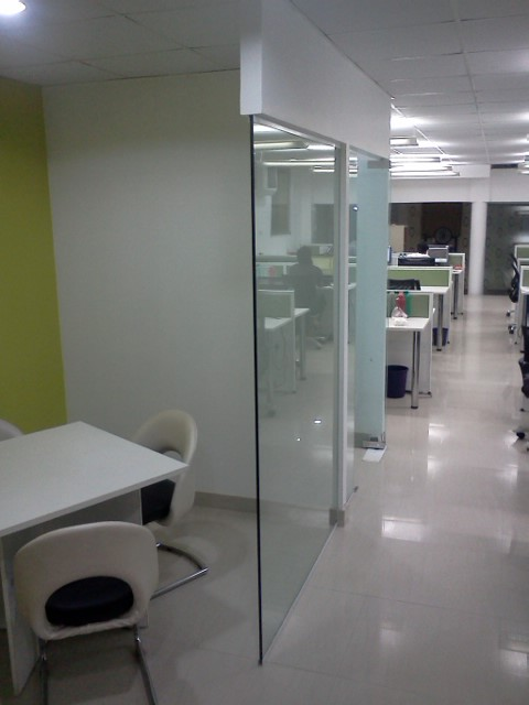 Fully furnished office in Corner building