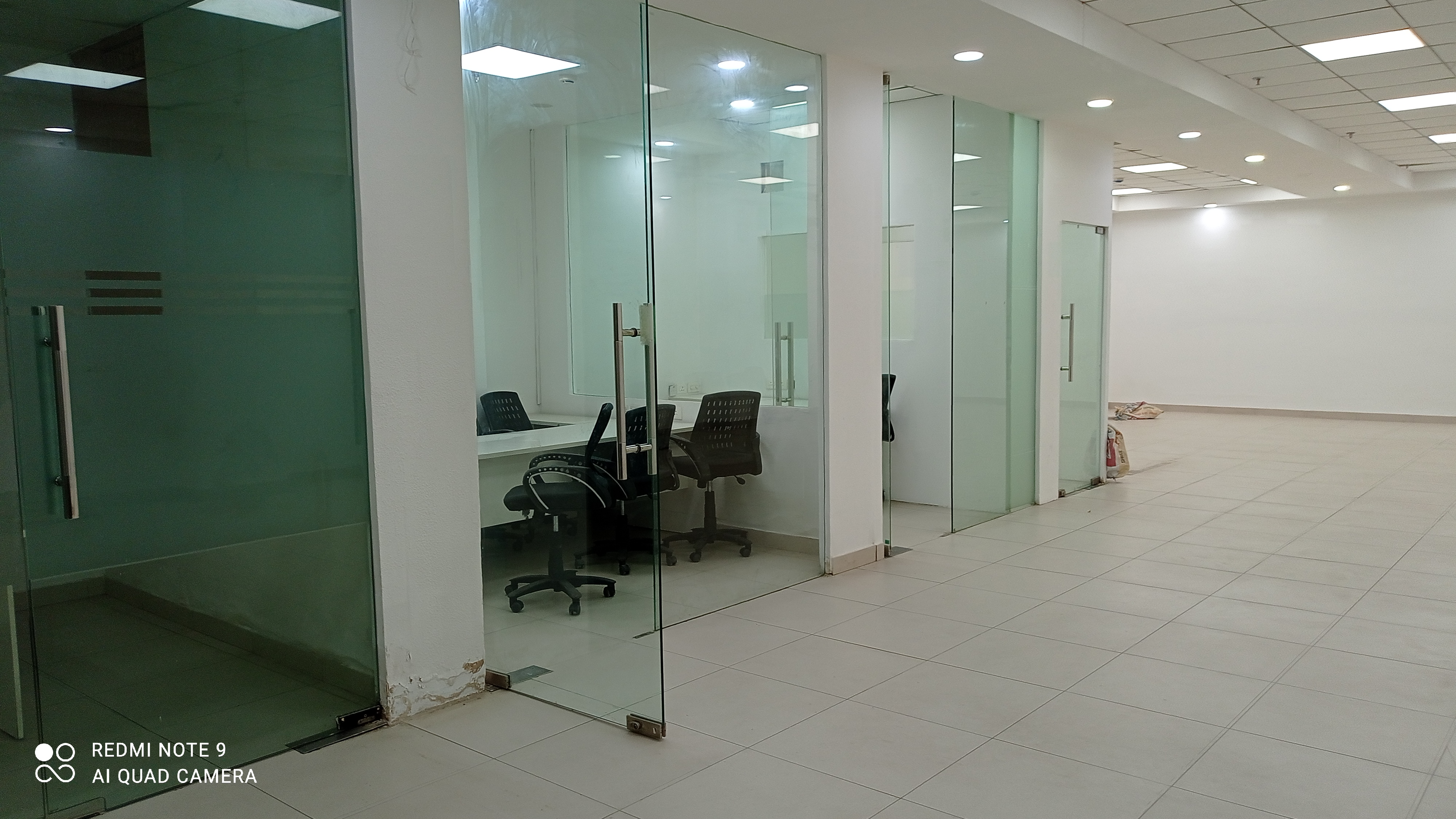 Semi furnished office space available in corner building