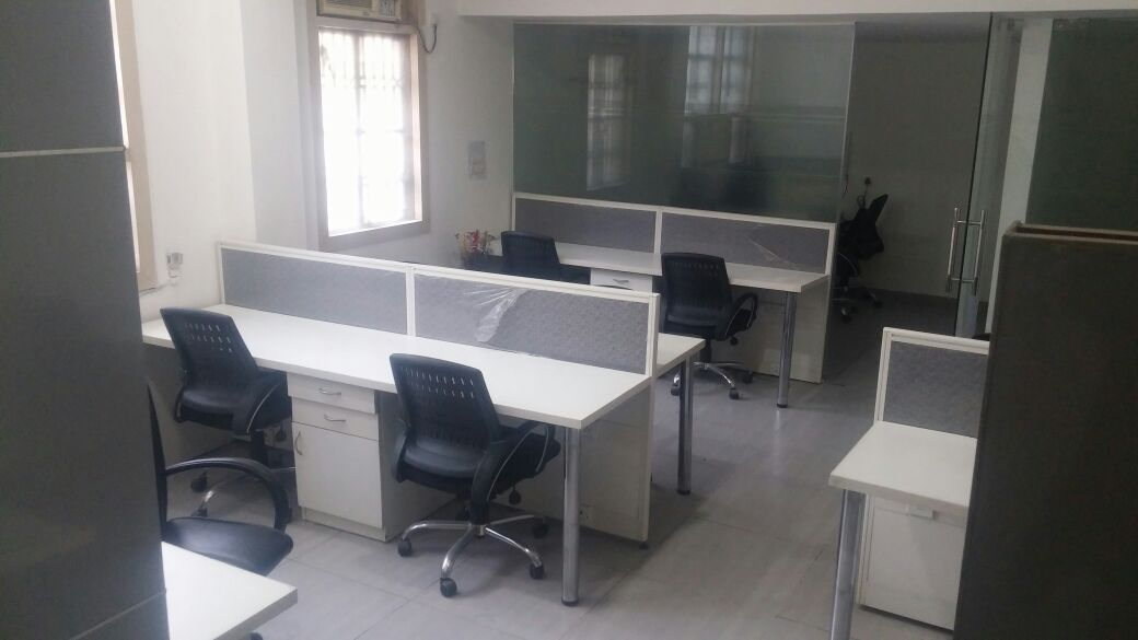 Fully furnished space in corner building